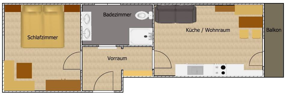 Skizze Appartment